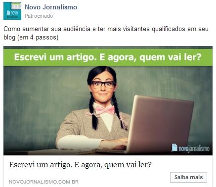 Facebook Ads: Feed de notícias no desktop