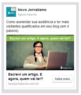 Facebook Ads: Feed de notícias mobile