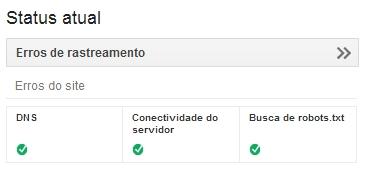 Google Webmaster Tools: Servidor