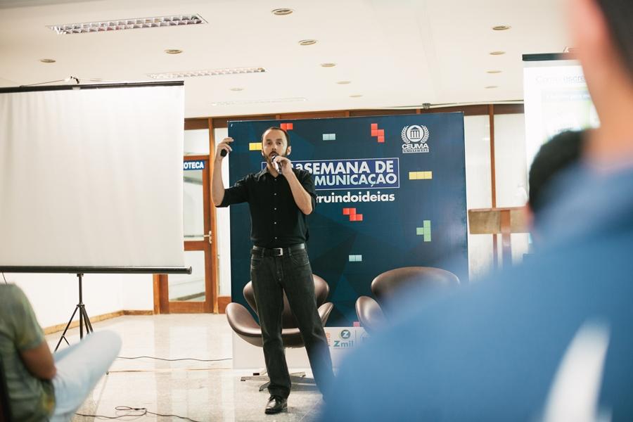 Mattheus Rocha - palestra na Universidade Ceuma (São Luís do Maranhão)