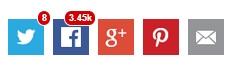 Votos Sociais - compartilhamento no Facebook