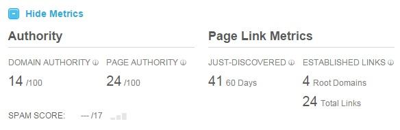 Moz Open Site Explorer - métricas de autoridade