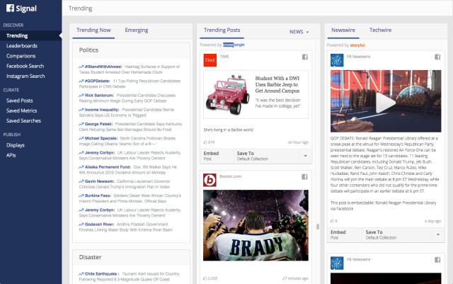 Facebook Signal - Trending