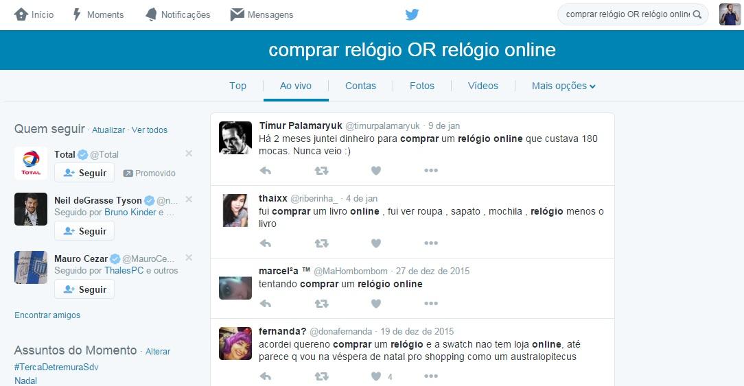 Como produzir conteúdo de qualidade para lojas virtuais - Twitter