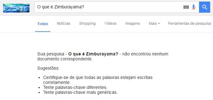 O que é Zimburayama - Teste de indexação: busca 1