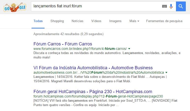 Busca avançada do Google