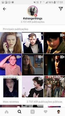 Busca do Instagram